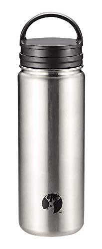 キャプテンスタッグ(CAPTAIN STAG) スポーツボトル 水筒 直飲み 真空断熱 ダブルステンレス 保温・保冷 広口タイプ スクリュー栓/フラップ栓 HD 2wayボトル 500ml シルバー UE-3481