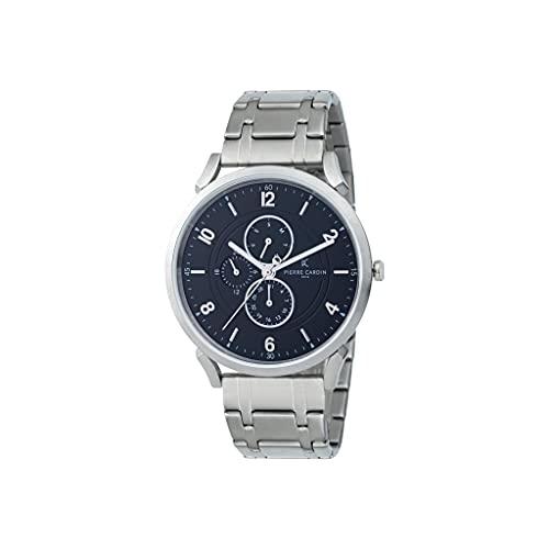 Pierre Cardin Reloj de pulsera de cuarzo para hombre de acero inoxidable con correa de acero inoxidable – Pigalle Boulevard – CPI.2055
