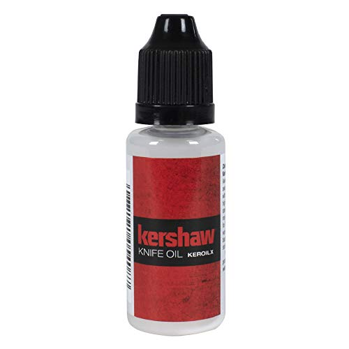 Kershaw Knife Oil (0.4 fl oz); Engineered to Protect and Enhance the Folding Mechanisms of Any Knife; Keeps Knives Sharp, Shiny and Protected; Suitable for All Types of Knives; Non-Toxic