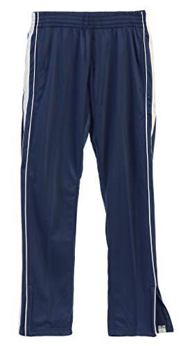 Gioberti Boys Track Running Sport Athletic Pants, Elastic Waist, Zip Bottom, Navy, Size 14
