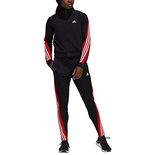 adidas W Teamsport TS Tracksuit, Negro/Rojint, XL Women's