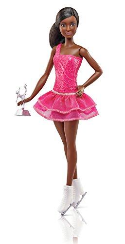 Barbie FCP27 Eiskunstläuferin Puppe (brünett)