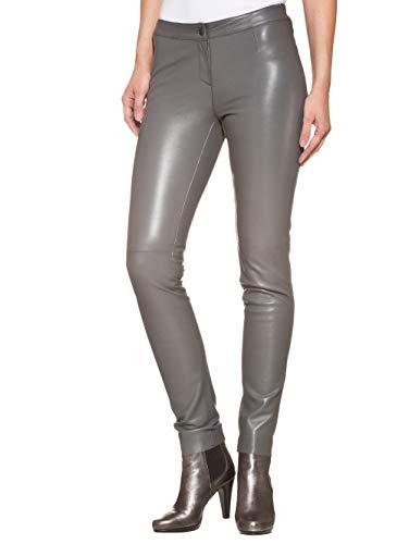 Alba Moda Damen Lederhose Grau 42 Leder