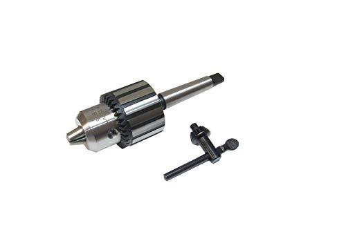 RDGTOOLS 2MT Key-Type Drill Chuck 1-16MM Capacity 2 Morse Taper