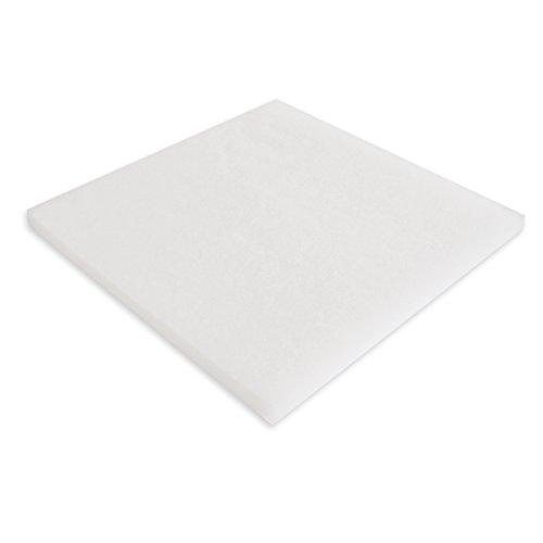 Filtervlies Synfil 300 100x100x2.5cm sehr fein weiß für Teichfilter oder Aquarienfilter Filtermedium