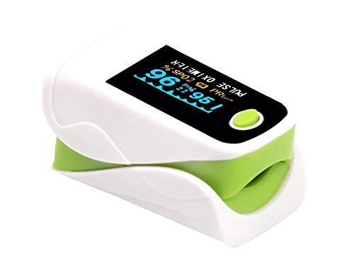 WYNDP Fingerpulsoximeter, Pulsherzfrequenzmesser, OLED-Bildschirm, Pulsoximeter, LED-Bildschirm, Blutpulsfrequenzmessung-Grün_OLED-Bildschirm