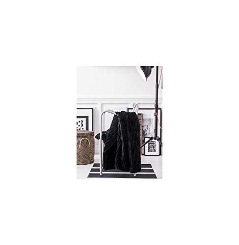 Today 232257 Plaid Liny Noir 125x150cm 100% Polyester
