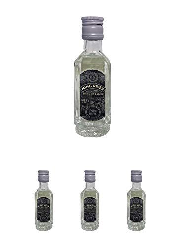 Ming River Sichuan Baijiu (weisser Brand) 45% - 4 x 0,05 Liter Miniatur