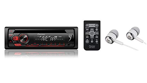 Pioneer Single DIN In-Dash CD, CD-R/RW, MP3, Front USB and Auxiliary Input, AM/FM Detachable Face Plate Car Stereo Receiver w/ Remote Control, MIXTRAX and ARC Support / FREE ALPHASONIK EARBUDS