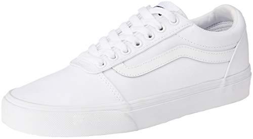 Vans Herren WARD CANVAS Sneaker, Leinwand Weiß Weiß, 41 EU