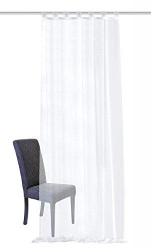 Home Fashion Schlaufenschal, Stoff, Weiß, 245 x 140 cm