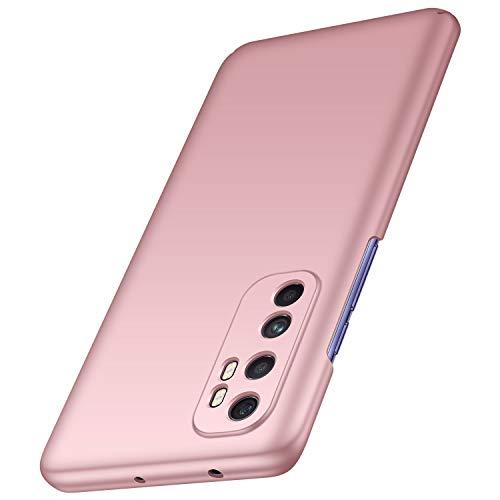 anccer Funda Xiaomi mi Note 10 Lite Ultra Slim Anti-Rasguño y Resistente Huellas Dactilares Totalmente Protectora Caso de Duro Cover Case para Xiaomi mi Note 10 Lite(Oro Rosa Liso)