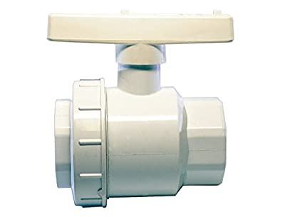 "American Valve P200SUE 1 1/2"" PVC Single Union Ball Valve Schedule 40 Socket, 1-1/2-Inch by American Valve"