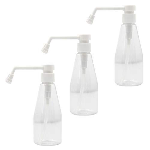 BESPORTBLE Botella de Spray Boquilla Larga Contenedor de Agua Recargable Vacío de Plástico para Productos de Limpieza Pulverizador de Maquillaje Flor Planta Mister 200Ml 3Pcs (Blanco)