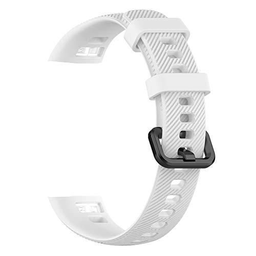 KAMLIKE Reemplazo de Silicona Suave muñequera Correa de Reloj Pulsera Correa de liberación rápida del Reloj para Huawei Band 3 Pro y Pro Banda 4