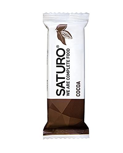 Energieriegel Saturo Cocoa, 250 kcal, Mahlzeitenersatz mit Hochwertigem Protein, Allen 26 Vitaminen und Mineralstoffen, Ballaststoffreich, Eiweißriegel, Gesunder Snack, 16 x 65 g Riegel