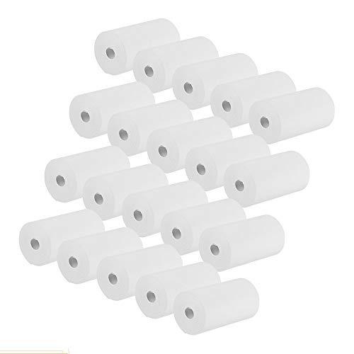 Bisofice Rollos de papel térmico Impresoras de papel de 57 * 30mm Rollos de la caja registradora para la impresión en papel del recibo de la posición del supermercado, 20 rollos