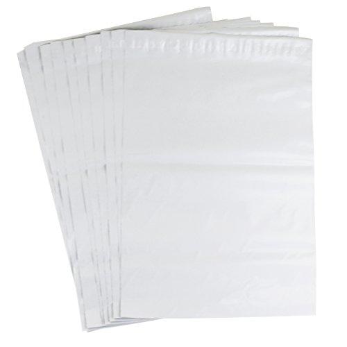 Versandtasche Plastik Versandbeutel, 65 Mikron, 5 cm Lasche selbstklebend, blickdicht 320mm x 420mm 10 Stk.