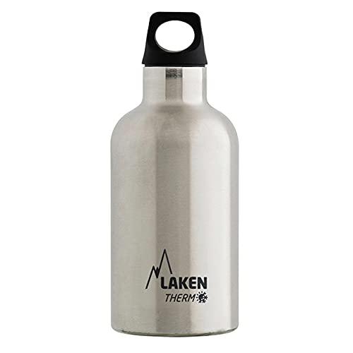 Laken Futura Botella Térmica de Acero Inoxidable 18 8 y Aislamiento de Vacío con Doble Pared. 350, 500 y 750 ml. (750 ml, Plateado)