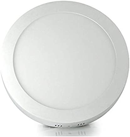 Gesto Aluminium Metal 12-Watt Round LED Surface Panel Light (White, Small)