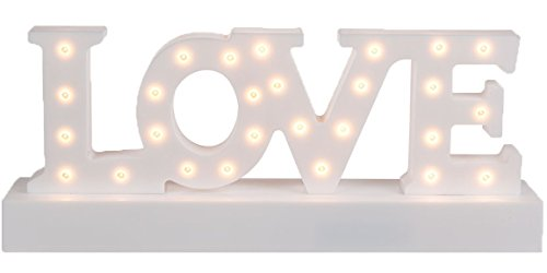 Bada Bing LED Schriftzug LOVE Weiß Warmweiß Buchstaben Licht Deko Valentinstag Liebe Geschenk40