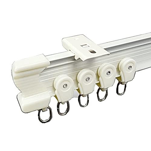 SHXN 3m Flexible Gebogene Deckenschiene Gardinenschiene,Biegbar Vorhangschiene für Vorhänge Raumteiler Wohnmobil-Vorhang Duschvorhang Krankenhaus-Vorhangschienensystem