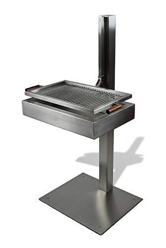 VEIKIN DESIGN Edelstahl Grill Style 80 cm, Designer Grill, Profi-Grill, Holzkohlegrill in Top-Qualität! (80 cm)