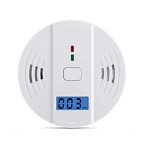 Carbon Monoxide Detector Gas Detection, WJZXTEK Digital Display Carbon Monoxide Alarm, Electronic Equipment, Power Detection Equipment, Alarm Clock Warning, UL2034