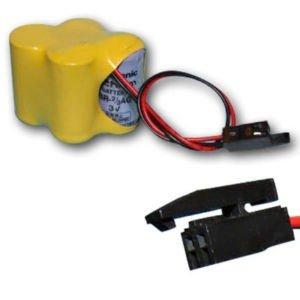 ricardovela - Batería br2/3agct4a para Robot fanuc Conector Negro