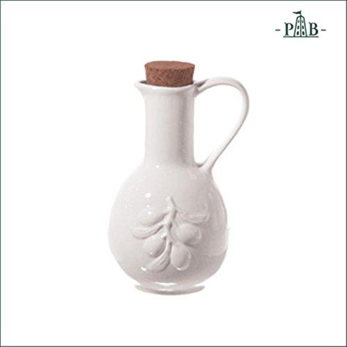 la Porcellana Menage Ampoule Bouteille d'huile, Blanc