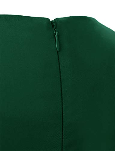 Dressystar DS1956 Vintage 1950s Retro Rockabilly Prom Dresses Cap-Sleeve XS Forest Green