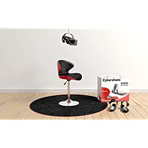 Cybershoes Gaming Station (Windows 10 PC Version) - use with your vr headset for walking or running in PC VR games. Includes CYBERCHAIR and CYBERCARPET. Experience THE POWER OF VIRTUAL REALITY GAMING