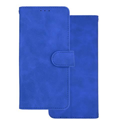 GOKEN Leder Folio Hülle für Oppo A74 5G / Oppo A54 5G, Lederhülle Brieftasche Mit Kartensteckplätzen, Premium Flip PU/TPU Handyhülle Schutzhülle Hülle Cover mit Ständer Funktion (Blau)