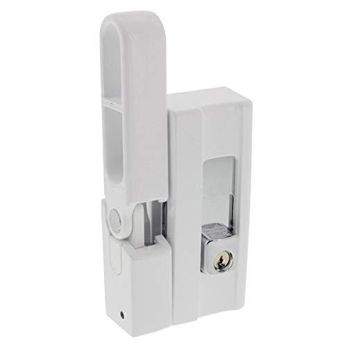 BURG-WÄCHTER Fenstersicherung, Einbruchschutz für Fenster und Balkontüren, Abschließbar, Unter-/Ober-/Griffseite, Kippfenster, BlockSafe BS 2, Weiß