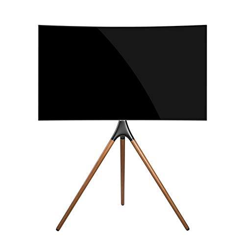 TechOrbits Tragbarer TV-Bodenständer für Samsung 55 Zoll und 65 Zoll Q7CN Q7FN Q8C Q85R Q9F Q9FN Q90R Q900 Q950R LS03 LS03R – TV-Beine künstlerische Staffelei