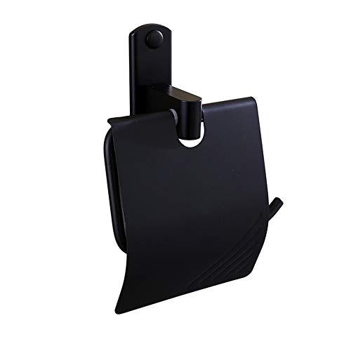 Yschen Schwarzer Raum Aluminium Toilettenpapierhalter Bad Taschentuch Box Hand Papier Rollenhalter Hotel Hardware Anhänger
