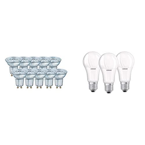 Osram Base Par 16 Lampada Led Gu10, 3.6 W, Luce Neutra & Led Base Classic A Lampada, A Forma Di Lampadina Con Attacco E27, Non Dimmerabile