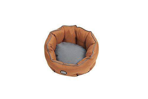 Buster Cocoon Bed, 45 cm, Staal Grijs/Leer Bruin Pijpen