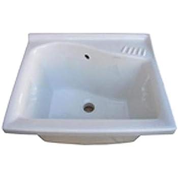 Lavatoio Ceramica Dolomite Lago.Dolomite Lavatoio Lago 50x61 J0892 Bianco Amazon It Casa E Cucina