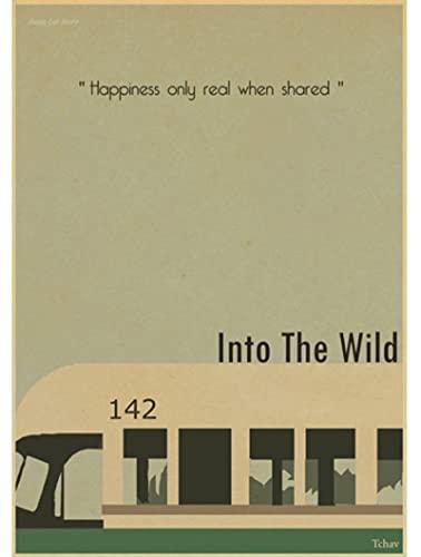 HUOJING Leinwand Poster Mode Heißer Into The Wild Nostalgie Retro Klassischer Film Tapeten 50 * 70Cm Bunt(Kein Rahmen)