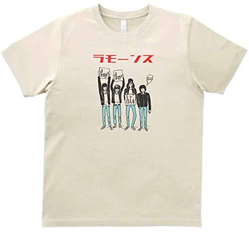 音楽 バンド シネマ カタカナ ラモーンズ 3 Tシャツ 半袖 サンド (L)