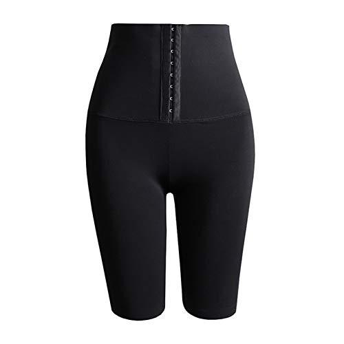 N/A/A La Yoga Que Adelgaza de Las Mujeres jadea el Cuerpo elástico del botón de la Cintura Alta Que Forma los Pantalones Cortos del Entrenamiento de la Cadera
