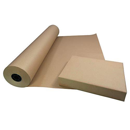 Triplast - Rollo de papel kraft ecológico (750 mm x 100 m, 100% papel reciclado, biodegradable y totalmente reciclable), color marrón