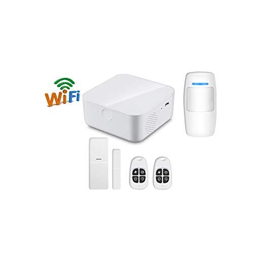 WIFI-veiligheidsalarmsysteem Sync Smart Home-inbrekeralarm familiekit, app-besturingsintegratie, updates voor privé- en zakelijke klanten inbreker-veiligheidsringalarm 4-delige kit