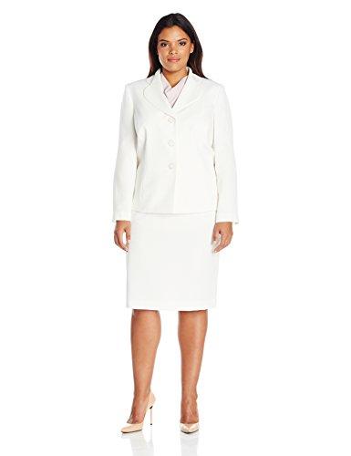 Le Suit Women's Plus Size 3 Button Vanilla Ice Skirt, 16W