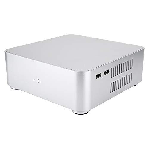 ASHATA Mini Caja de la Computadora, HTPC Chasis de Computadora de Aleación de Aluminio con Interfaz Dual USB2.0 para Placa Base ITX
