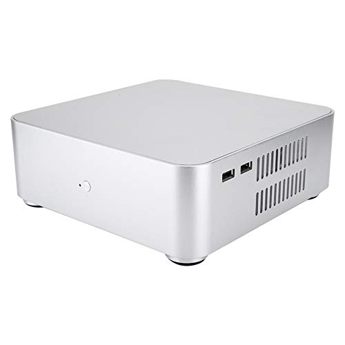 Mini ITX-computerkast, HTPC-behuizing van aluminiumlegering met USB 2.0, Mini-pc-computerkast met aluminium met hoge warmteafvoer, 197 * 197 * 65 MM
