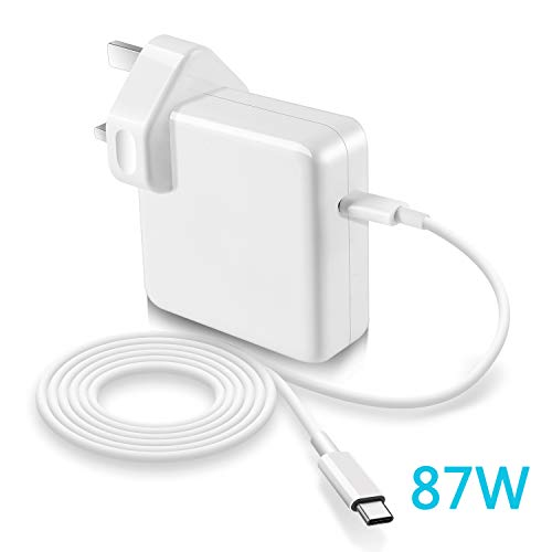 87W USB-C Power Adapter Compatible with Macbook Pro/Air Charger USB C,replacement thunderbolt charger for New Macbook Pro 13'' 15'' 2016Late 2017 2018 2019 87W/61W/30W with charging cable