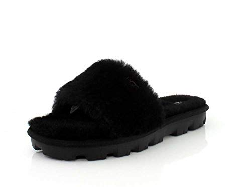 UGG Female Cozette Slipper, Black, 8 (UK)