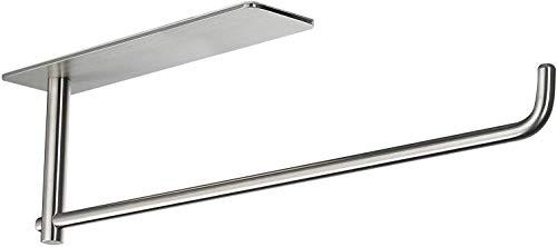 LAITEGOG Papierhandtuchhalter unter Küchenschrank, selbstklebend, SUS304 Edelstahl (Farbe: Silber)